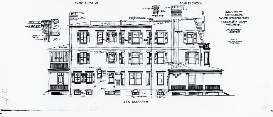 historical architectural drawing