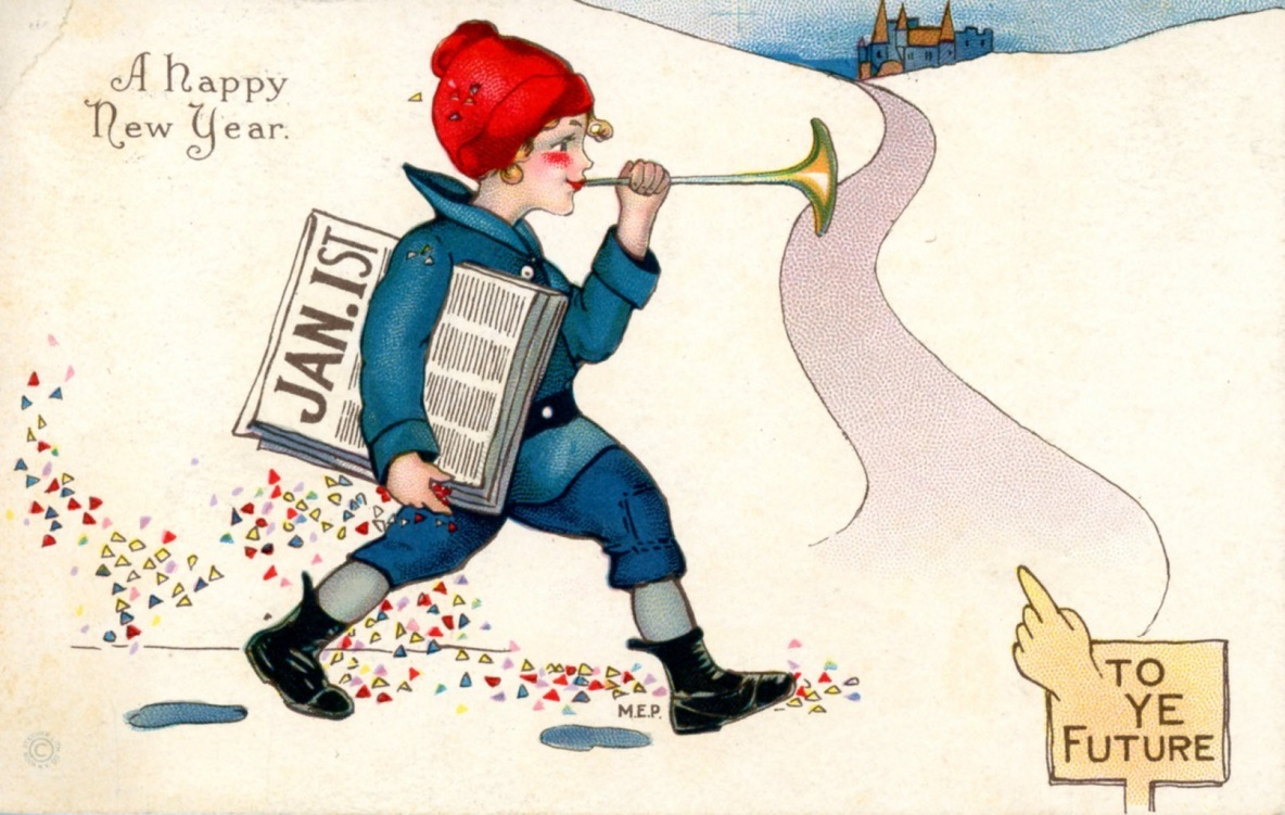 A festive postcard from the History Center collection.
