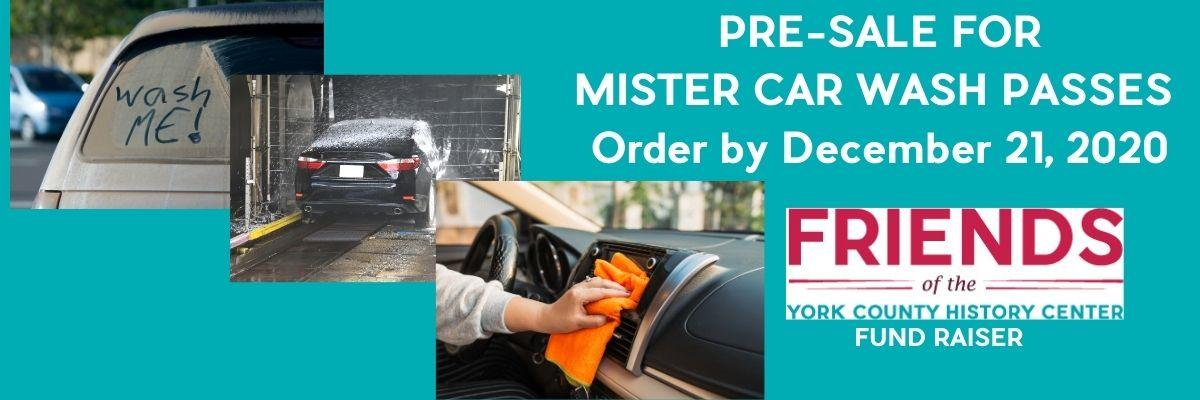 Friends Car Wash Pre-Sale Fundraiser