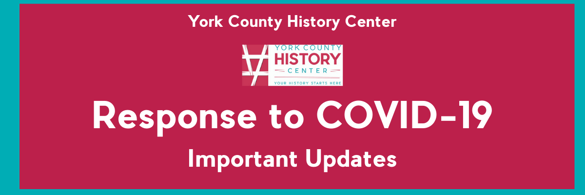 COVID-19 Update – CLOSED THROUGH END OF APRIL