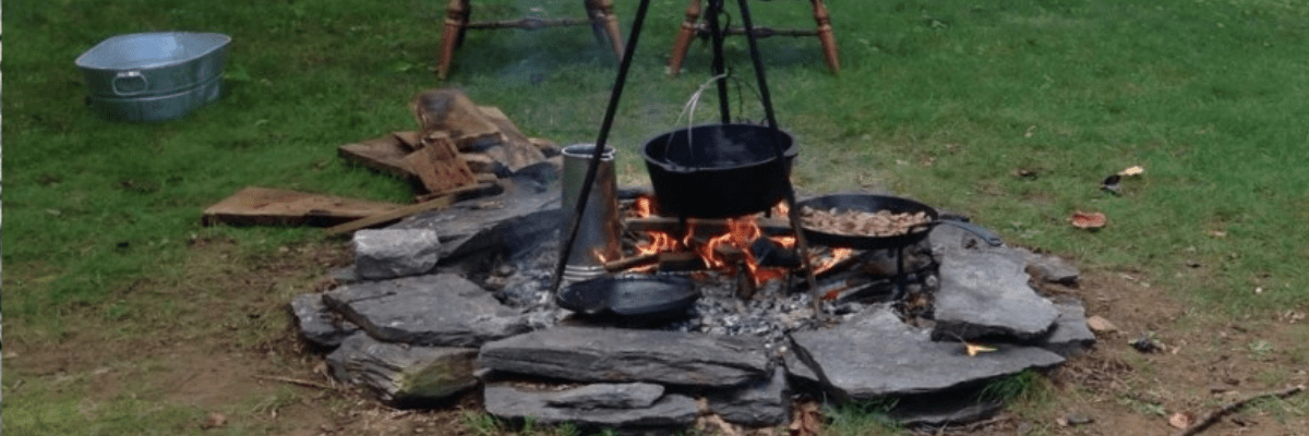 Open Fire Cooking Demonstration at Colonial Complex